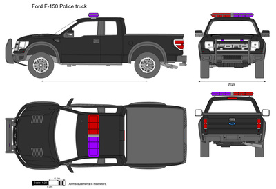 Ford F-150 Police truck