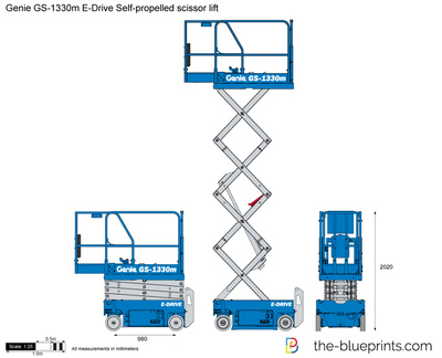 Genie GS-1330m E-Drive Self-propelled scissor lift