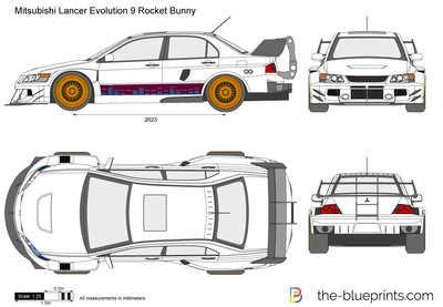Mitsubishi Lancer Evolution 9 Rocket Bunny