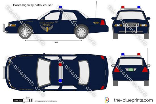 Police highway patrol cruiser
