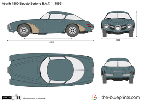 Abarth 1500 Biposto Bertone B.A.T. 1