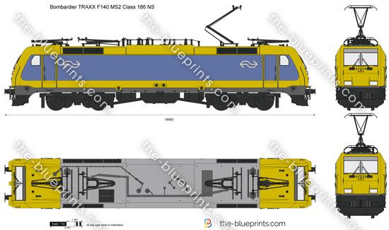 Bombardier TRAXX F140 MS2 Class 186 NS