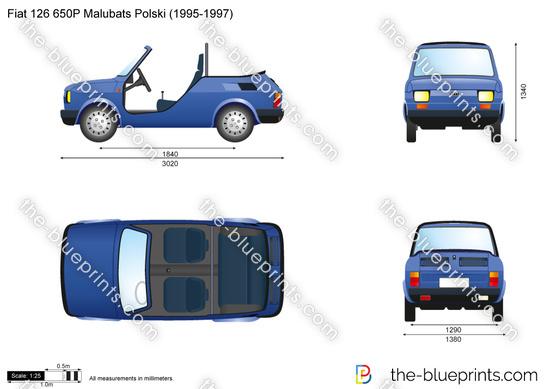 Fiat 126 650P Malubats Polski