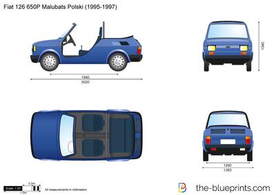 Fiat 126 650P Malubats Polski (1995)