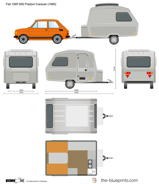 Fiat 126P 650 Predom Caravan