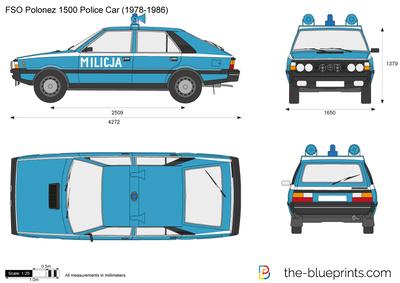 FSO Polonez 1500 Police Car
