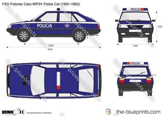 FSO Polonez Caro MR'91 Police Car