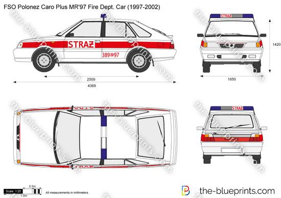 FSO Polonez Caro Plus MR'97 Fire Dept. Car