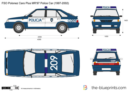 FSO Polonez Caro Plus MR'97 Police Car