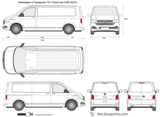 Volkswagen e-Transporter T6.1 Panel Van LWB
