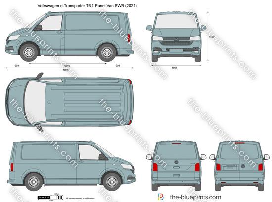 Volkswagen e-Transporter T6.1 Panel Van SWB