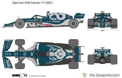 Alpha Tauri AT02 Formula 1 F1