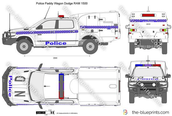 Police Paddy Wagon Dodge RAM 1500