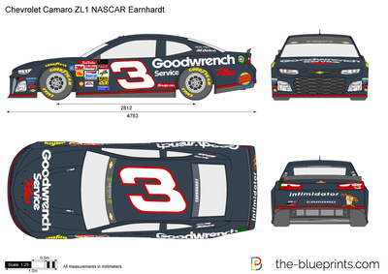 Chevrolet Camaro ZL1 NASCAR Earnhardt