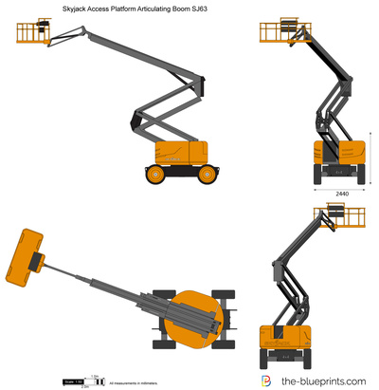 Skyjack Access Platform Articulating Boom SJ63