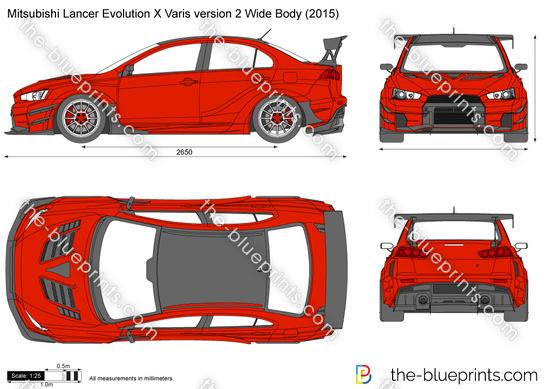 Mitsubishi Lancer Evolution X Varis version 2 Wide Body
