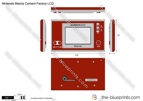 Nintendo Marios Cement Factory LCD