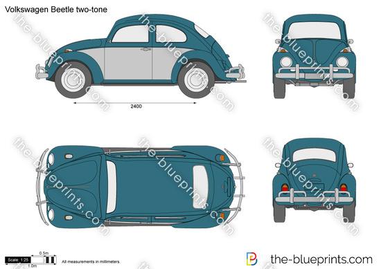 Volkswagen Beetle two-tone