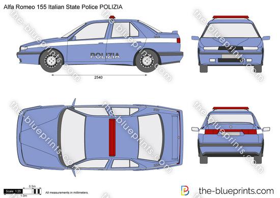 Alfa Romeo 155 Italian State Police POLIZIA