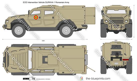 EOD Intervention Vehicle GURKHA 1 Romanian Army
