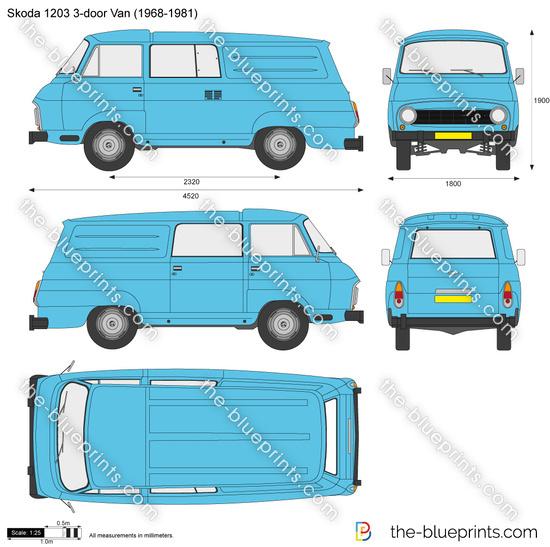 Skoda 1203 3-door Van