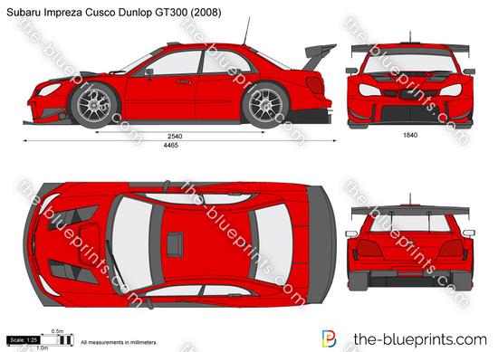 Subaru Impreza Cusco Dunlop GT300