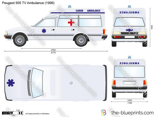 Peugeot 505 TV Ambulance