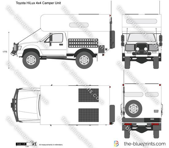 Toyota HiLux 4x4 Camper Unit