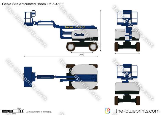 Genie Site Articulated Boom Lift Z-45FE