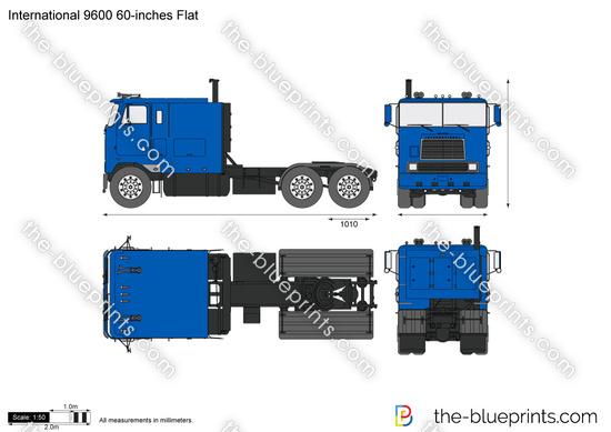 International 9600 60-inches Flat