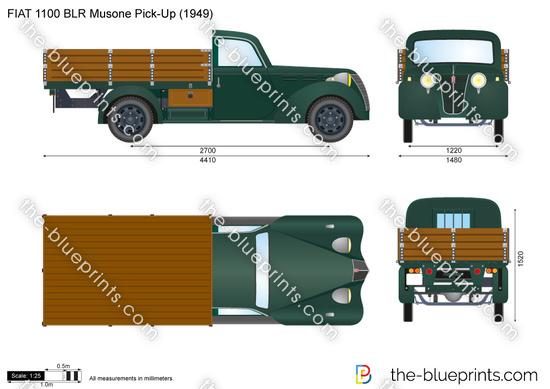 FIAT 1100 BLR Musone Pick-Up