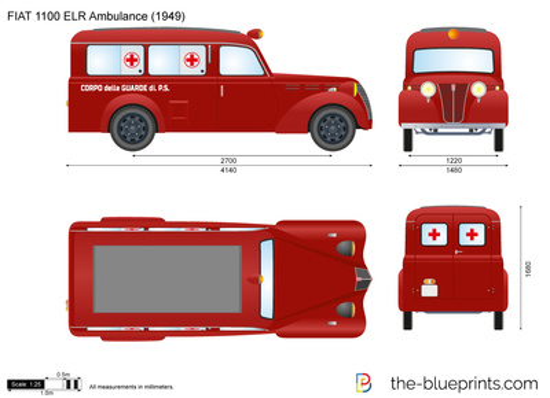 FIAT 1100 ELR Ambulance