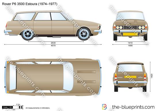 Rover P6 3500 Estoura