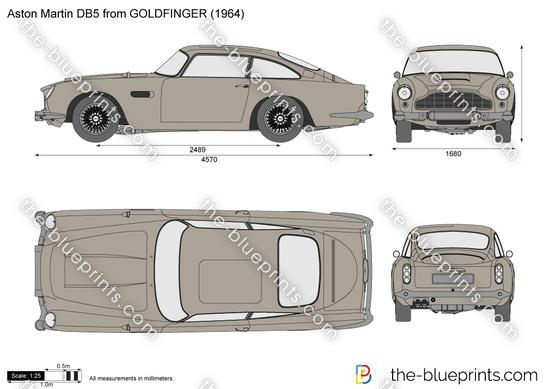 Aston Martin DB5 from GOLDFINGER