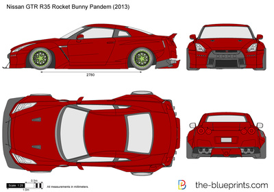 Nissan GTR R35 Rocket Bunny Pandem